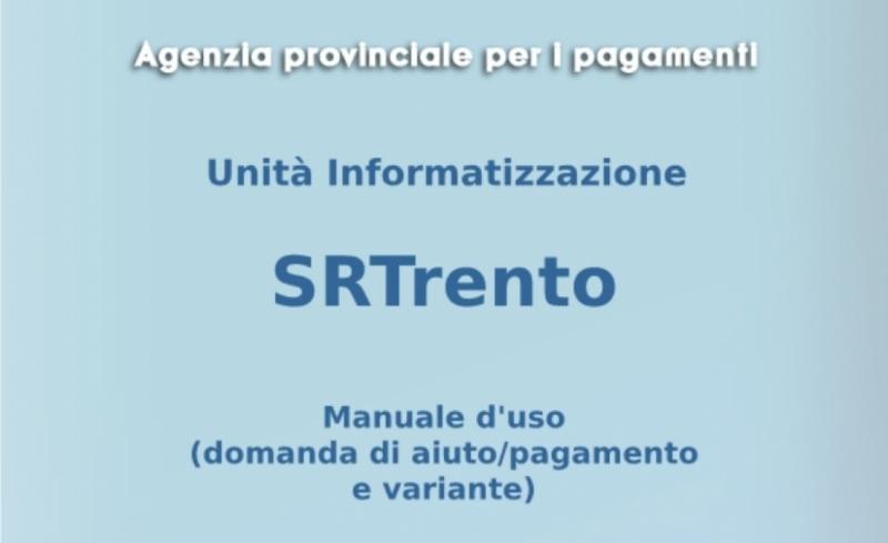 Online il manuale utente di SRTrento