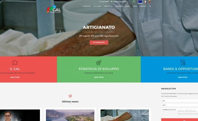 Online il sito del GAL Trentino orientale
